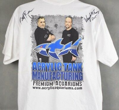 """""""TANKED"""" CAST, 100% AUTHENTIC AUTOGRAPHED T-shirt , SIGNED BY Wayde & Brett"""