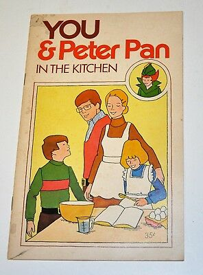 """Vintage Children's  Cookbook """"You & Peter Pan In The Kitchen"""" Peanut Butter"""