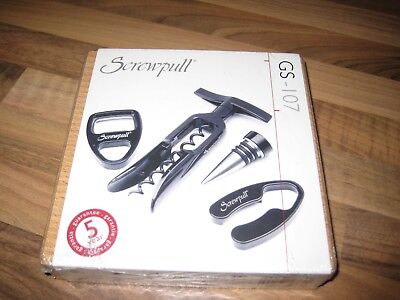 New Boxed and sealed 4 piece Screwpull bottle openers