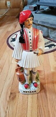 Hand painted Metsxa decanter from Italy