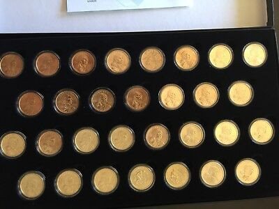 Complete P & D Sacagawea Dollar Set 2000-2009 And Satin Finish From2005-2009