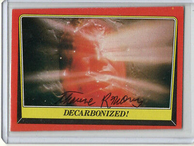 Star Wars card signed by Thaine R Morris (1983 topps ROTJ) ILM autograph