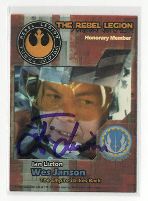 Star Wars card signed by Ian Liston (2006 The Rebel Legion) autograph