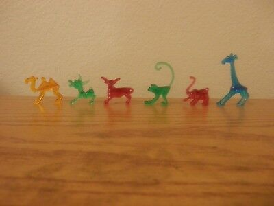 """Mini Don Manning Style Animal Drink Marker Figures Lot of 6 """"PLEASE READ"""""""
