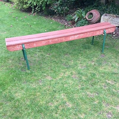 Garden Bench,  Wood & Metal,  Vintage
