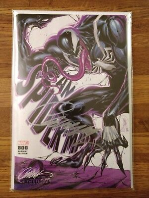 Amazing Spider-Man #800, SIGNED by Campbell, Venom Variant, Red Goblin, NM, JSC