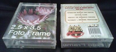 """EIGHT (8) PKK 2.5"""" x 3.5"""" x 7/8"""" THICK Slide-In Photo Holders"""