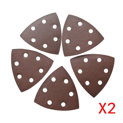 10Pc 90mm*90mm*90mm Sanding Disc For Grits 120 6 Holes Sandpaper