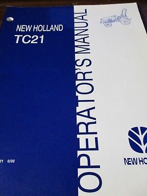 New Holland TC21 Tractor Operator's Manual 1998