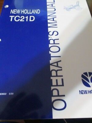 New Holland TC21D Tractor Operator's Manual 1998