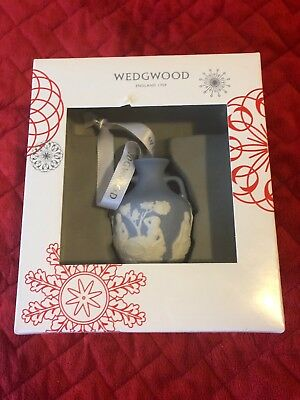 Wedgwood Blue & White Jaspeware Portland Vase Christmas Blue Tree Ornament