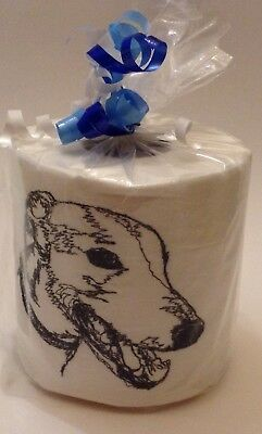 GREYHOUND SKETCH! Embroidered Toilet Paper; makes you smile!