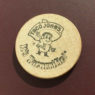 Wooden Nickle - Taco John's  - Free Taco  - From 1970's