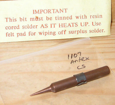 NOS ANTEX SOLDERING IRON BIT No. 1107 0.12mm tip for Antex CS, TC50, TCS, SD50