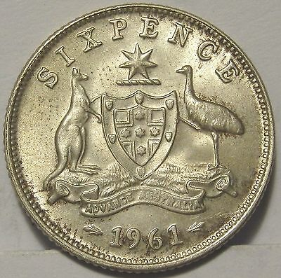 1961 6d Sixpence.Uncirculated(LotE417616)Free Postage