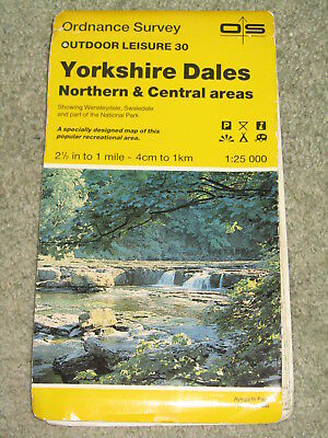 OS Ordnance Survey Outdoor Leisure 30 Yorkshire Dales - North & Central areas