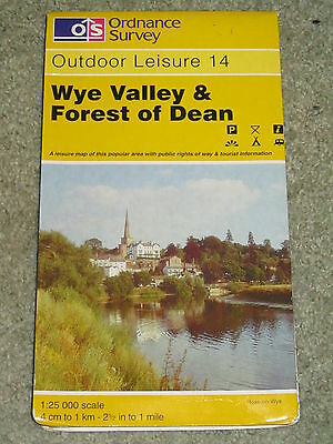 OS Ordnance Survey Outdoor Leisure 14 Wye Valley & Forest of Dean