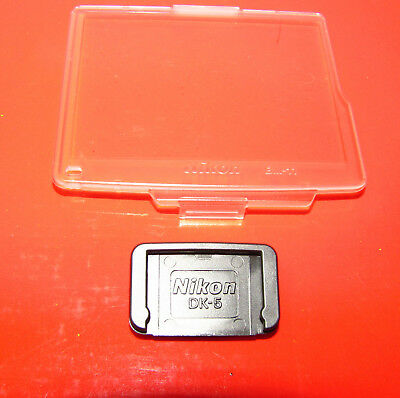 Genuine Nikon BM-11 Screen Protector for D7000 + Nikon DK-5 Eyepiece cover