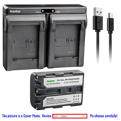 Kastar Battery Dual Charger for Sony NP-FM50 BC-VM50 & Sony Cyber-shot DSC-F707