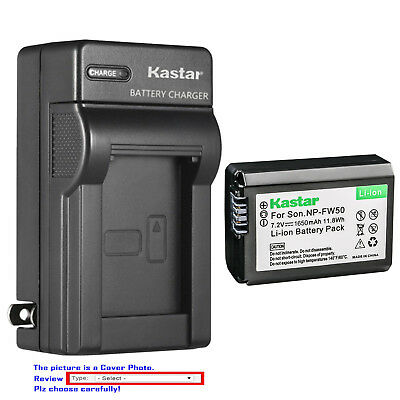 Kastar Battery AC Wall Charger for Sony NP-FW50 BC-VW1 & ILCE-6000 Alpha a6000