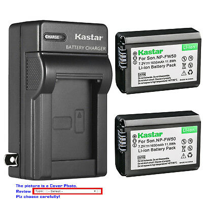 Kastar Battery AC Wall Charger for Sony NP-FW50 BC-VW1 & ILCE-6300 Alpha a6300