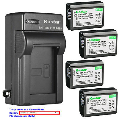 Kastar Battery AC Wall Charger for Sony Genuine NP-FW50 & OEM BC-VW1 BC-TRW