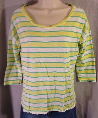 d6493dae36 OLD NAVY WOMEN'S Small Lightweight Long Sleeve T Shirt Lemon Lime ...