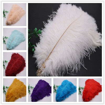 Wholesale, 10-100pcs beautiful ostrich feathers 6-16inches/15-40cm 16 colors