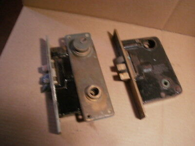Lot of 2 Vintage - Sargent Heavy Duty Mortise Locks & Striker Plate