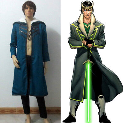Loki Agent of Asgard Christmas Party Halloween Uniform Outfit Cosplay Costum