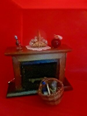 Dollhouse fireplace 1:12 andirons and more...miniature