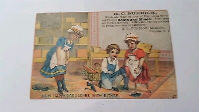 H.C. Burdick Boots And Shoes Pulaski NY Victorian Trade Card