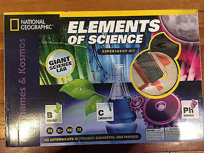GREAT TOY- Elements of Science LAB Experiment Kit Thames & National Geographic