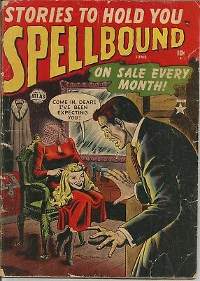 Spellbound #4 1952 Atlas Golden Age Horror Comic Book pre-code decapitation G/VG