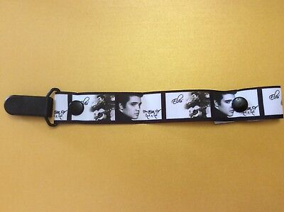 Baby dummy pacifier Clip Elvis Presley The King of Rock and Roll