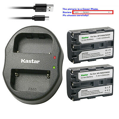 Kastar Battery Dual Charger for Sony NP-FM50 BC-VM10 & Sony Cyber-shot DSC-F707