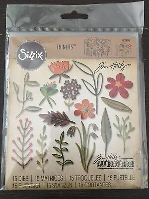 Sizzix Tim Holts Thinlits 'Funky Floral #2' 15 Dies (662701) Flowers Cuttlebug