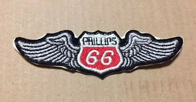 Phillips 66 Wings Aviation Oil Iron on Embroidered Patch Vintage NOS  Excellent bd9677272323