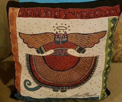Laurel Burch Angelicat Angel Cats Square Decorative Tapestry Throw Pillow