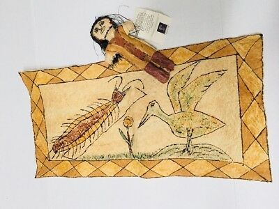 Amazon Tikuna Doll and Bark Painting