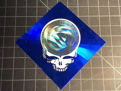 Grateful Dead Jerry Garcia HOLOGRAPHIC STEAL YOUR FACE Paper Clips decal sticker