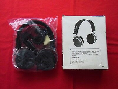 A BOXED PAIR of VINTAGE 'ECHO' STEREO HEADPHONES HS-310. MADE in JAPAN.