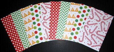 15 Colourful Christmas Papers ~ 15cm x 9.5cm ~ - Scrapbooking/Cards/Papercrafts