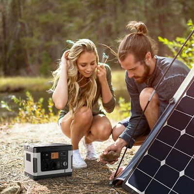 Power Station Lithium 500Wh Rechargeable Solar Generator for Emergency Camping