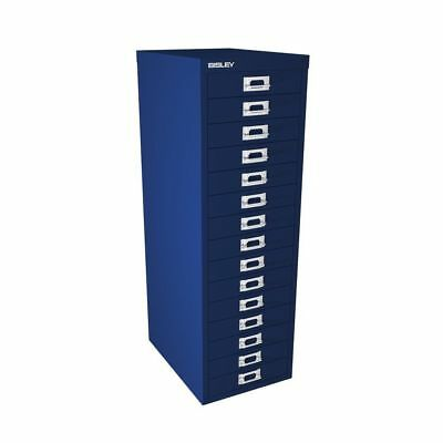 Bisley 15 Multi Drawer Filing Cabinet - Blue New Free Delivery *special Offer*