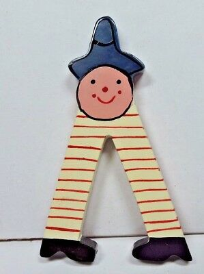 """New Child's Boy Girl Painted Whimsical Letter """" V """" or """" A """"  Red, Blue & White"""