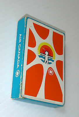 AIR CANADA playing cards set airline 14 SOLEILS SUN LIVING 1970 promotion rare