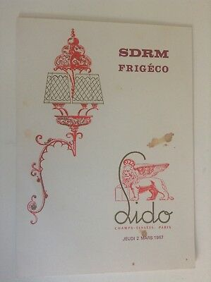 Ancien Menu du Lido 1967