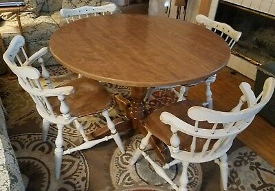 Vintage Ethan Allen (4) Comb Back Chairs & Table