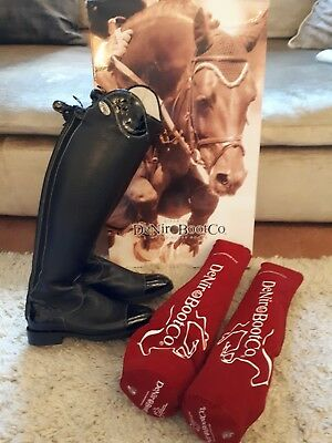 Stunning De Niro Salentino Lucidi Black Riding Boots UK 5